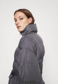 Who What Wear - ZIP FRONT PUFFER JACKET - Winter jacket - slate - 3