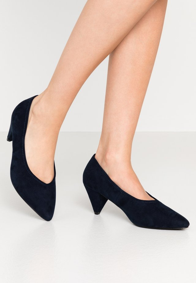 WIDE FIT CONE HEEL - Tacones - navy
