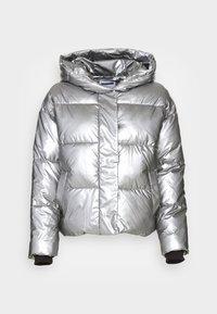 NMMAXIMA SHORT JACKET - Winter jacket - light gray metallic