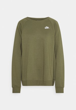 CREW PLUS - Sweatshirt - medium olive/white