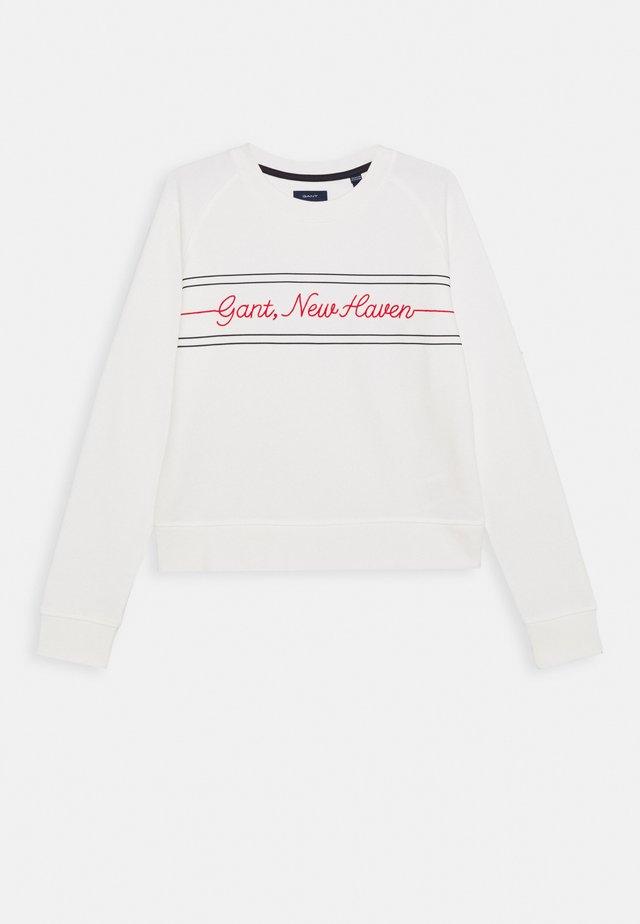 CRIPT C NECK - Sweatshirt - eggshell