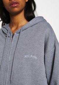 BDG Urban Outfitters - ZIP THROUGH HOODIE - Huvtröja med dragkedja - pacific blue - 5