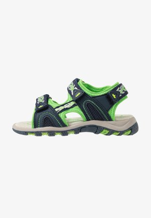 LUCA  - Walking sandals - marine/grün