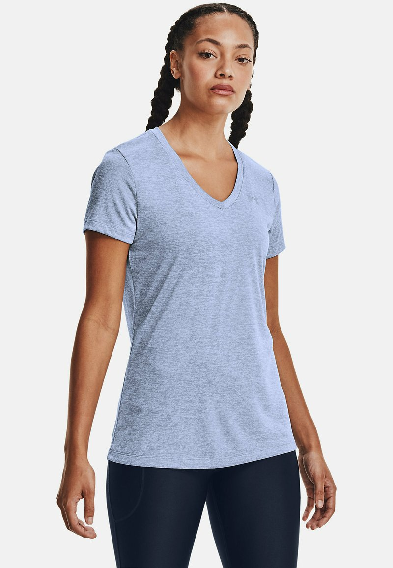 Under Armour - TECH TWIST - Sports shirt - washed blue