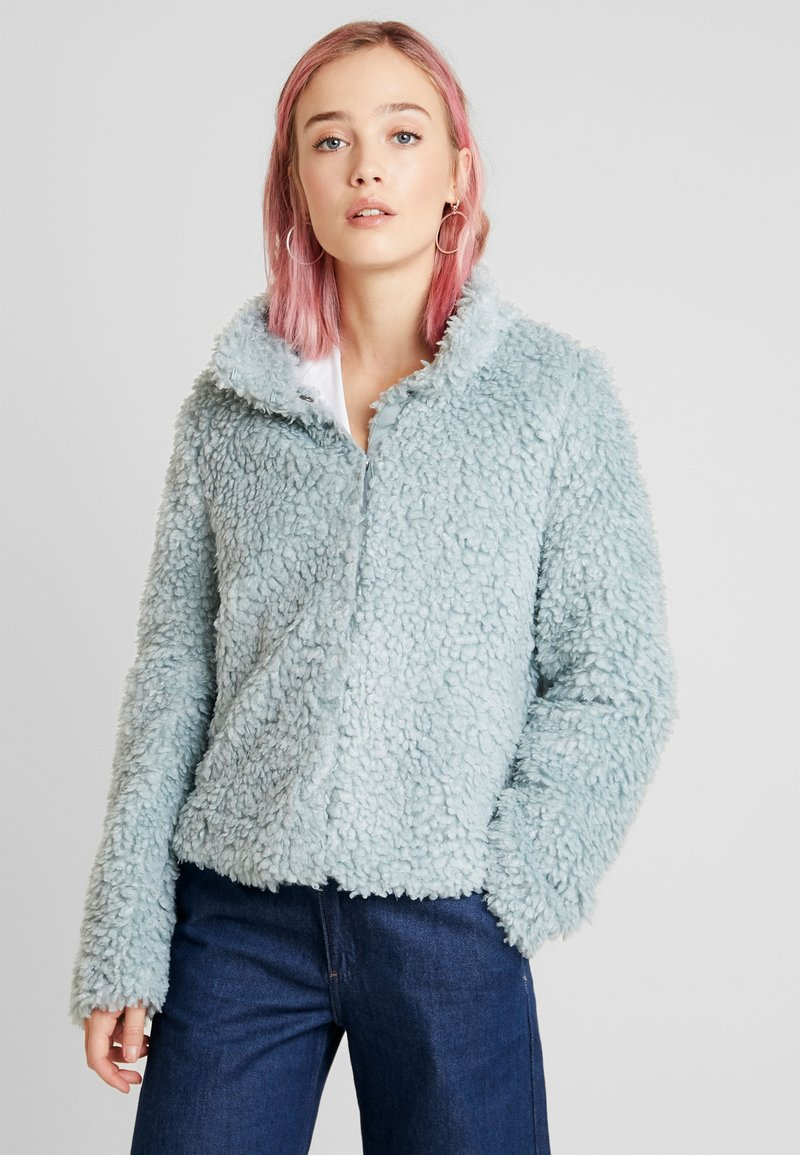 Vero Moda - VMVIRIGINIATEDDY HIGH NECK - Zimní bunda - slate