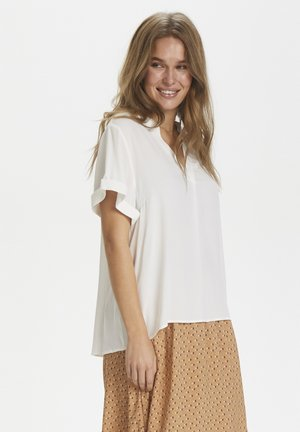 AGNESSZ SS TOP - Bluse - bright white