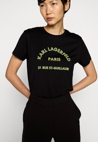 KARL LAGERFELD - ADDRESS LOGO - T-shirt imprimé - black - 3