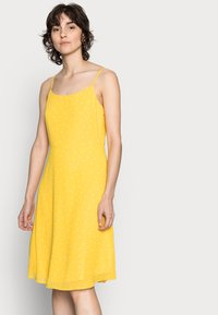 Anna Field - STRAPPA FIT AND FLARE - Korte jurk - yellow, white - 3