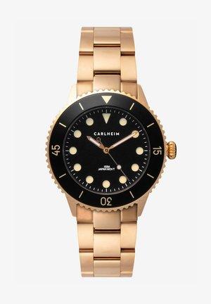 DIVER 40MM LINK - Horloge - rose gold-black