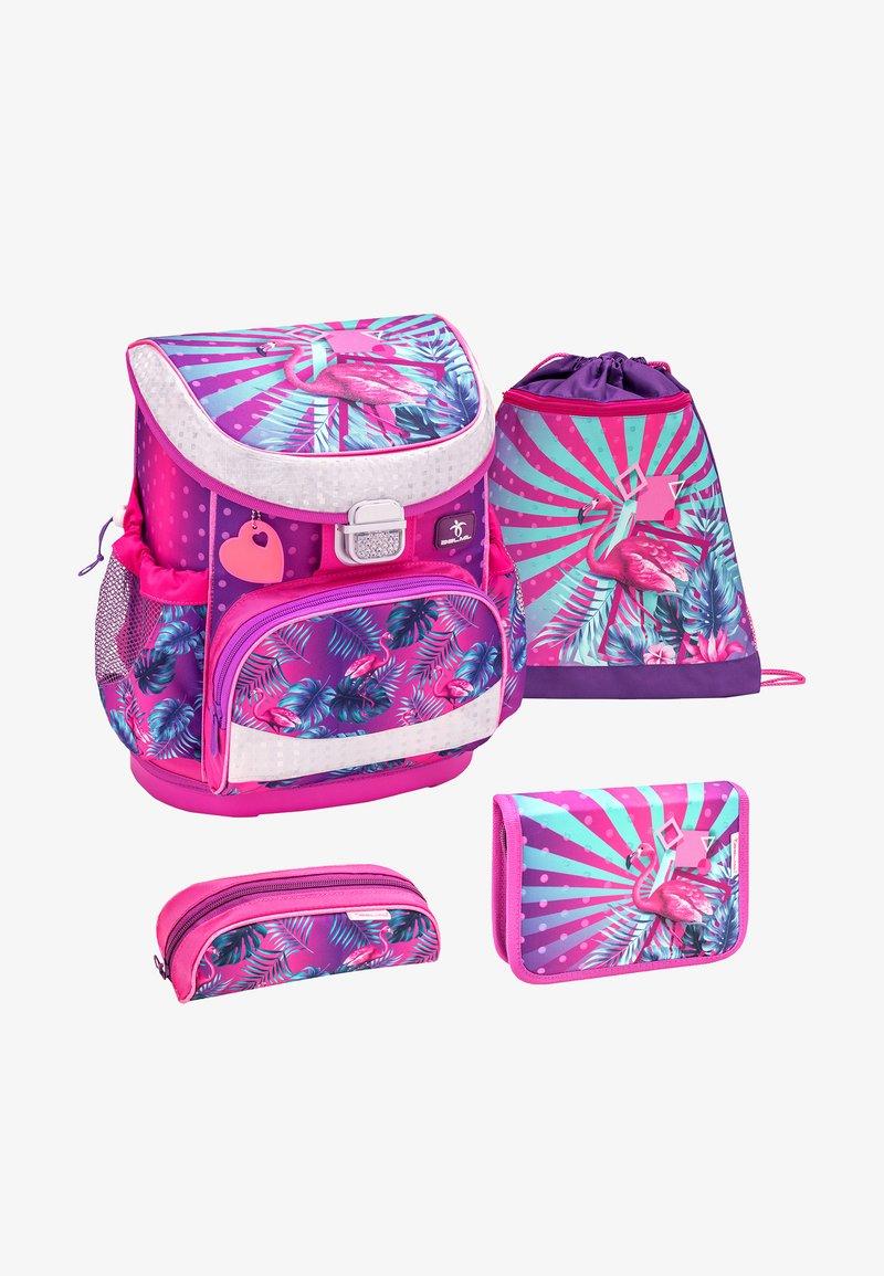Belmil - SET - School bag - neon pink
