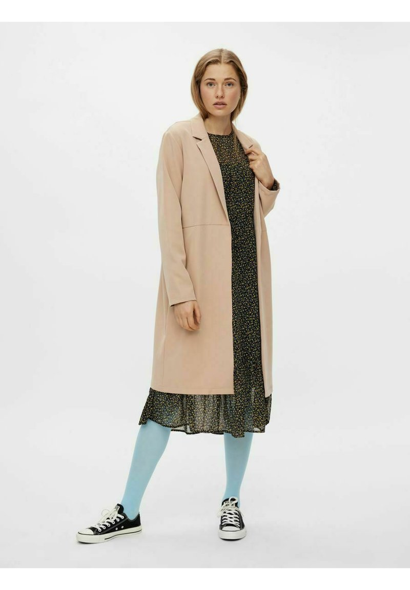 Pieces - Short coat - warm taupe