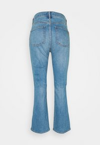 Tory Burch - CROPPED BOOT MARBLE JEAN - Široké džíny - stone blue denim - 7