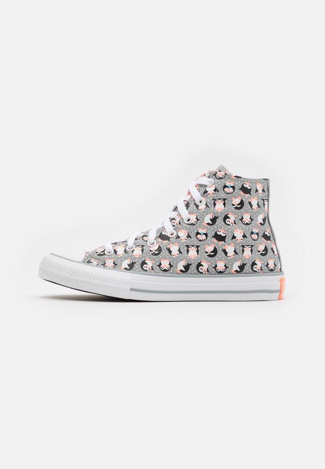 CHUCK TAYLOR ALL STAR PENGUIN  - High-top trainers - ash stone/bright coral/white