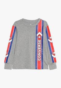 Converse - OVERSIZE SPORT STRIPE - Top sdlouhým rukávem - dark grey heather - 0
