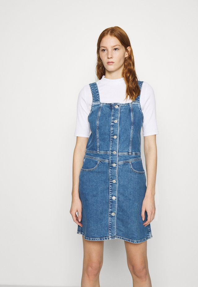 BUTTON DOWN TANK DRESS - Denim dress - light blue