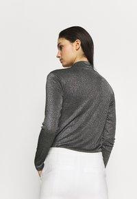 KARL LAGERFELD - WRAP BODY - Long sleeved top - silver - 2