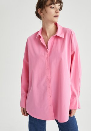OVERSIZED - Button-down blouse - pink