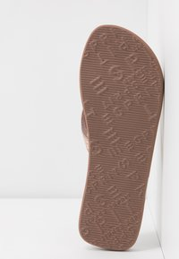 Esprit - GLITTER THONGS - T-bar sandals - cream beige - 6