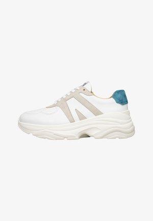 STYLE CHOICE DG - Sneakers laag - weiß/petrol