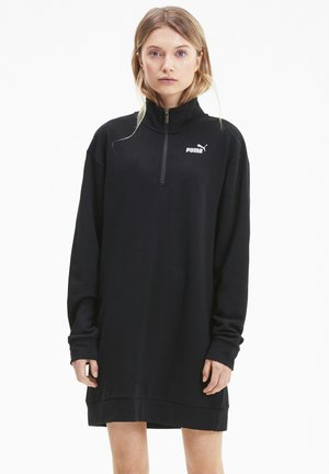 ESSENTIALS HALF ZIP - Jersey dress - black