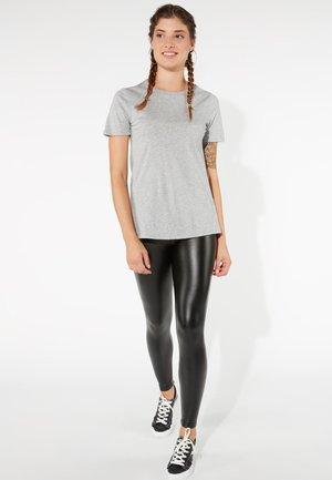 BASIC - Print T-shirt - grigio melange chiar