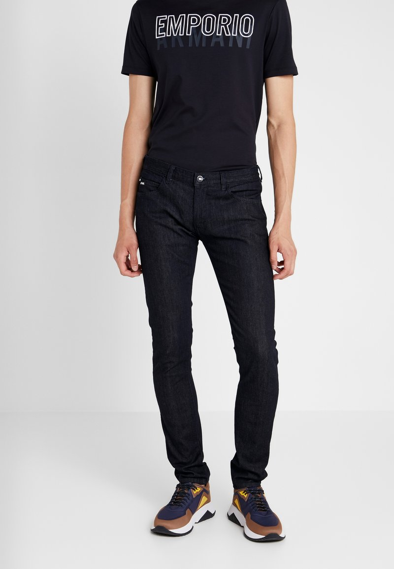 Emporio Armani - Džíny Slim Fit - blue denim