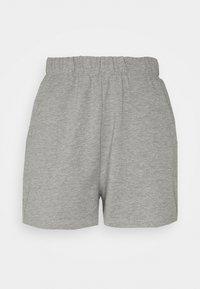 Noisy May Petite - NMMALOU CROPPED SET - Teplákové kalhoty - light grey melange - 2