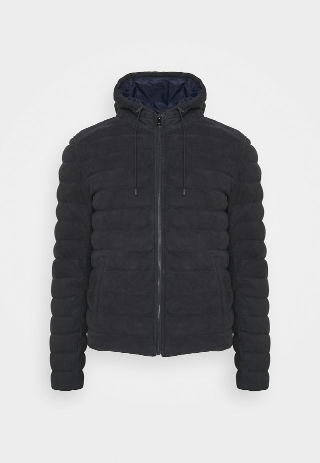 Giacca di pelle - navy