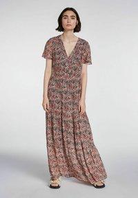 SET - Maxi dress - white red - 1