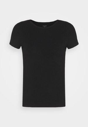 PINTUCK TEE - T-shirt - bas - black