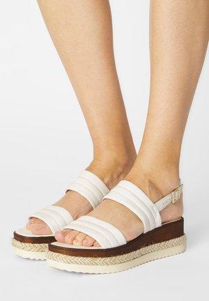 KAZZY - Platform sandals - white