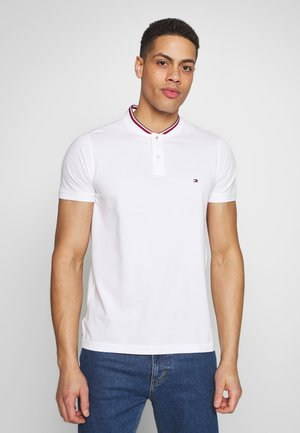 BASEBALL COLLAR SLIM - Basic T-shirt - white