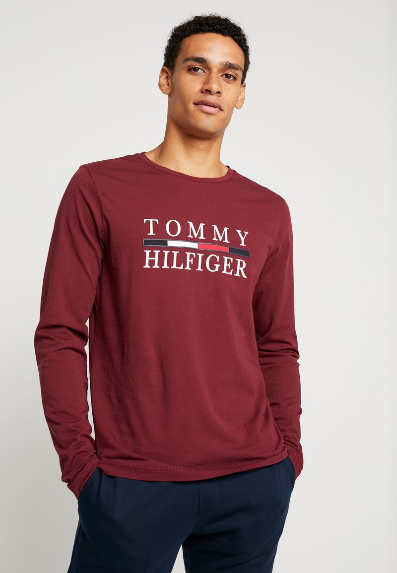 Tommy Hilfiger - LONG SLEEVE TEE - Long sleeved top - red
