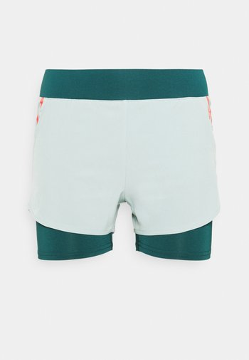 ONPFERR LOOSE TRAIN SHORTS - Sports shorts - gray mist/neon orange