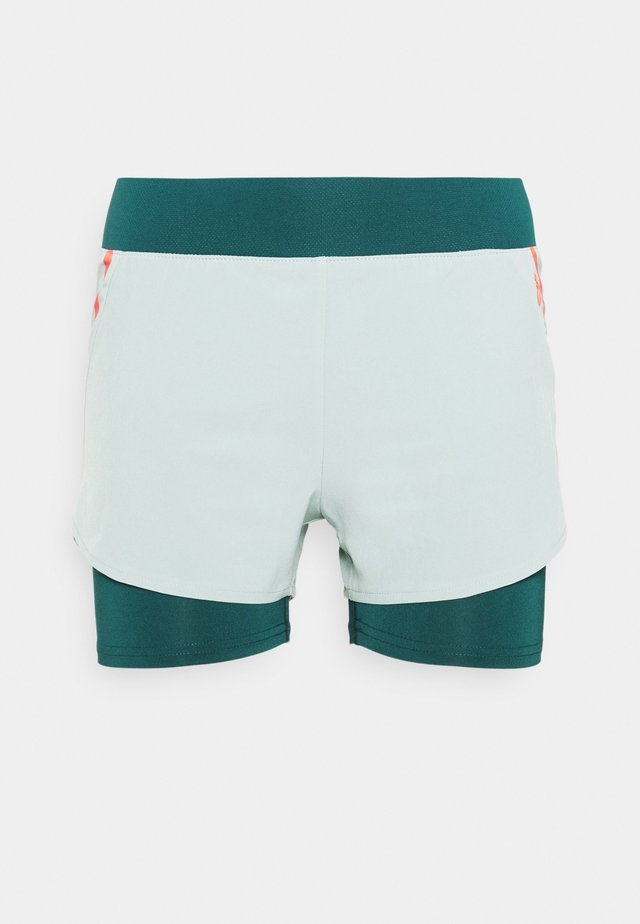 ONPFERR LOOSE TRAIN SHORTS - Pantalón corto de deporte - gray mist/neon orange