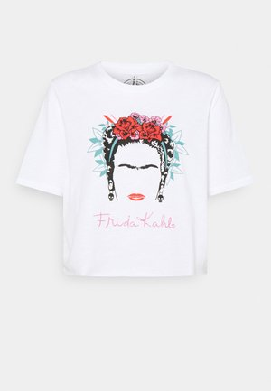 ONLFRIDA KAHLO LIFE BOX - Print T-shirt - bright white