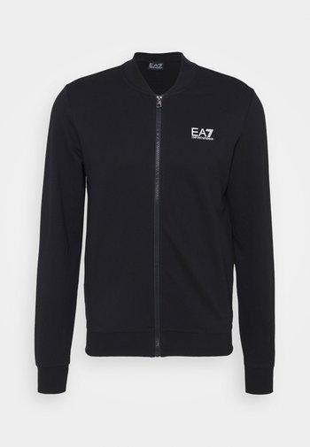 Felpa con zip - black