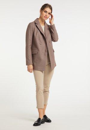 Płaszcz wełniany /Płaszcz klasyczny - taupe