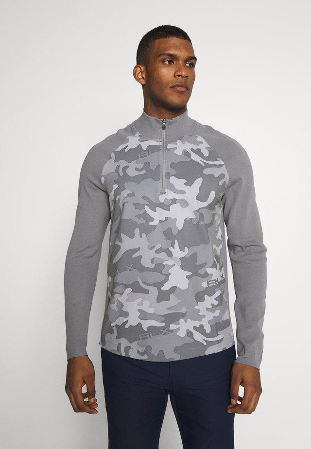 HYBRID LONG SLEEVE - Stickad tröja - grey