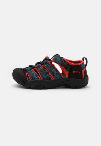 NEWPORT H2 UNISEX - Walking sandals - black/orange