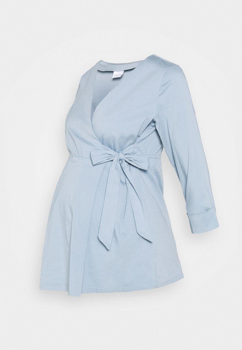 MAMALICIOUS - MLMAIJSA - Button-down blouse - ashley blue