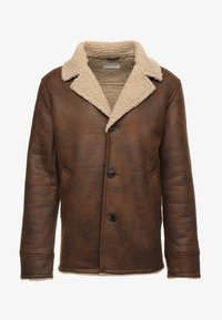 Pier One - Faux leather jacket - brown - 3