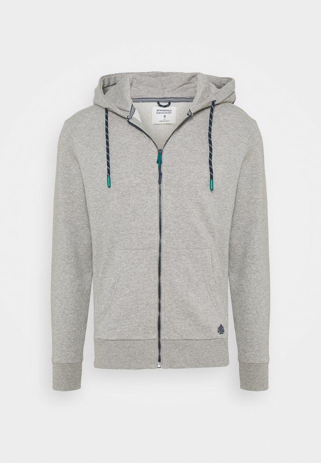 BASICA ABIERTA - Zip-up hoodie - medium grey