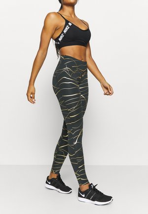 FAST  - Legginsy - black/metallic gold