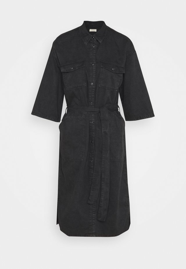 DRESS DAKOTA - Denim dress - black