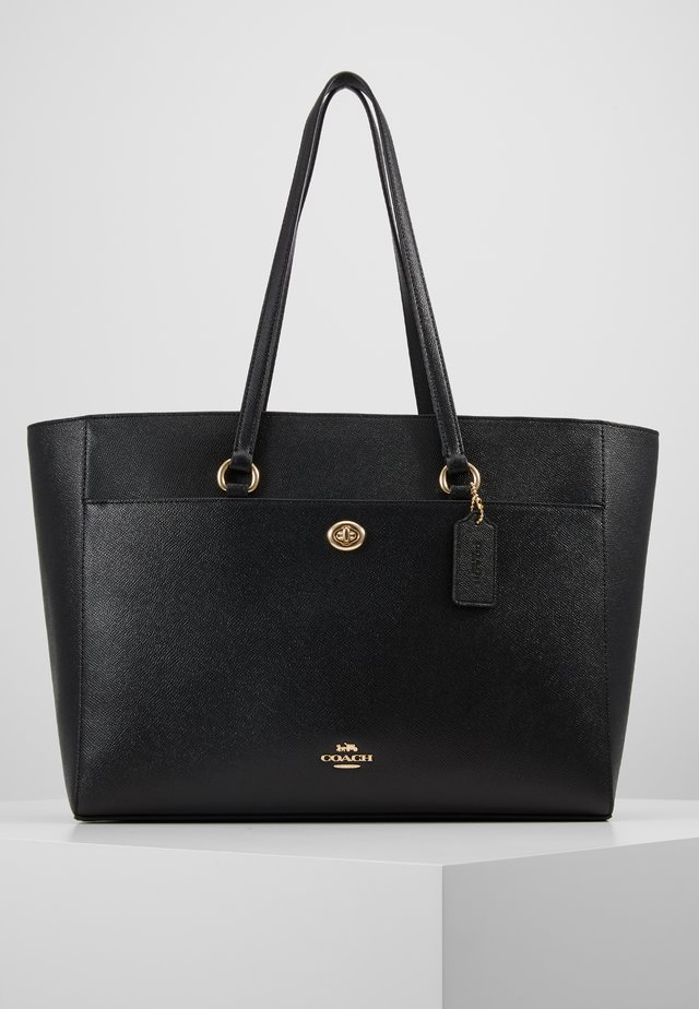CROSSGRAIN FOLIO TOTE - Bolso shopping - black
