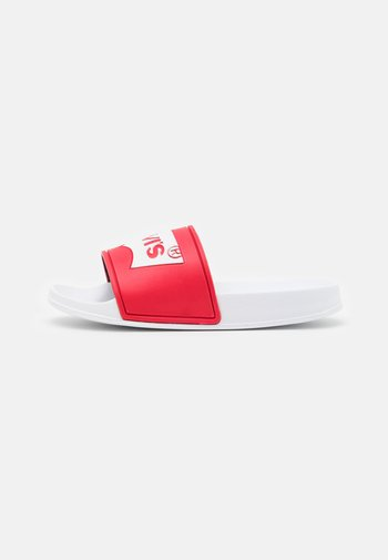 POOL UNISEX - Mules - red/white