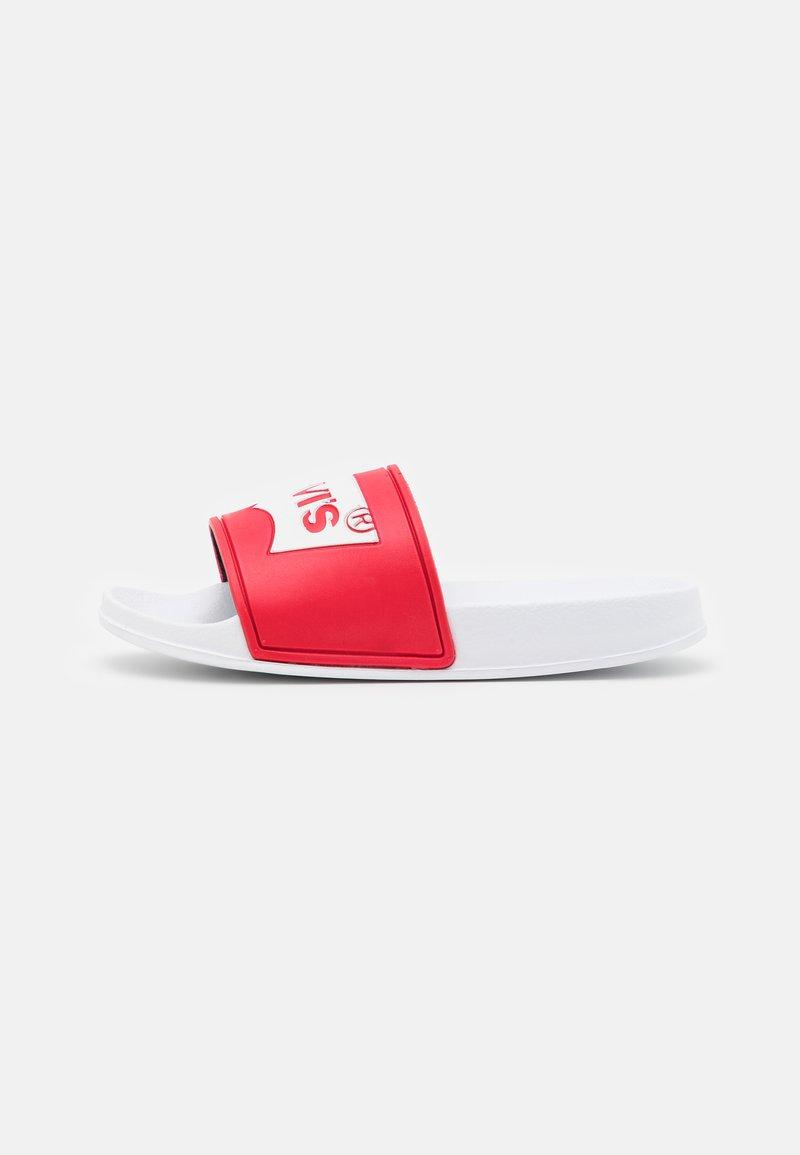 Levi's® - POOL UNISEX - Muiltjes - red/white