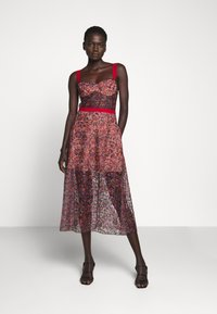 Allen Schwartz - EDEN BUSTIER DRESS IN PRINTED - Vestito elegante - red - 0