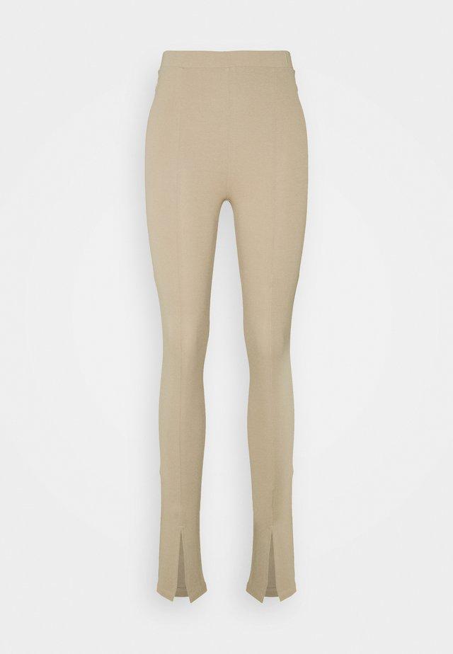 FRONT SLIT - Legging - beige